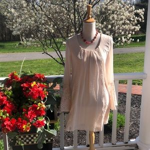 Sequin Hearts Cream and Lace Summer Dress